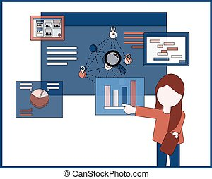 Project Management chart presentation vector