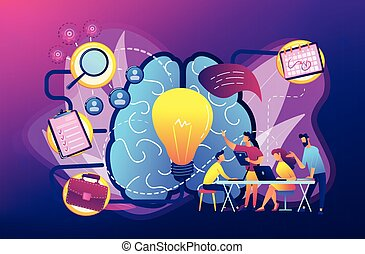 Project management concept vector illustration.