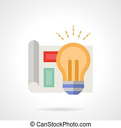 Project management flat color vector icon