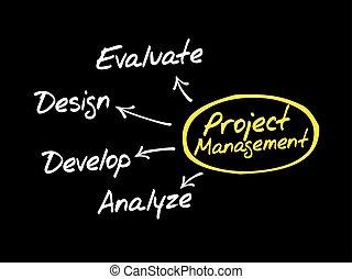 Project Management flow chart mind map