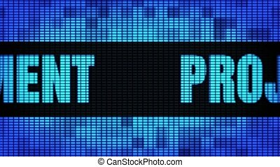 Project Management Front Text Scrolling LED Wall Pannel Display Sign Board