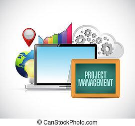 project management online business concept
