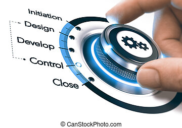 Project Management Process, Monitoring and Controling Concept