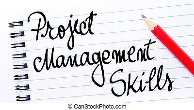 Project Management Skills written on notebook page