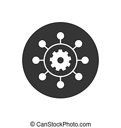 Project management vector icon. Pixel perfect vector