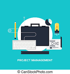 Project management - Vector illustration of project ...