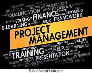 Project Management word cloud, business concept