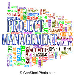 Project management wordcloud - Illustration of word tage of...