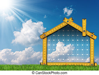 Project of Ecological House with Solar Panel