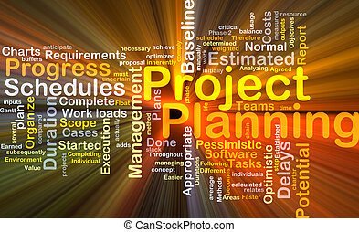 Project planning background concept glowing - Background...