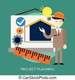 Project Planning Conceptual illustration Design