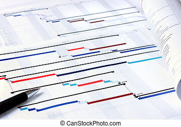 Project planning documents - Project plan Gantt charts with...