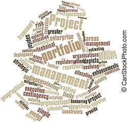 Project portfolio management - Abstract word cloud for...