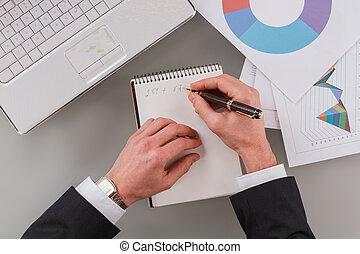 project., pracujący, startup, nowy, biznesmen