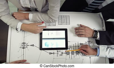 Project Solutions - The above view of a professional team...