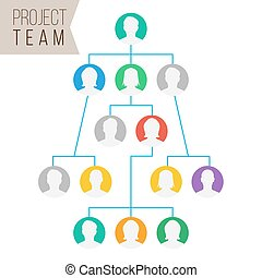 Project Team Vector. Employee Group Organization. Flat...