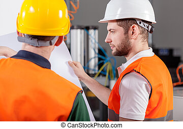 Project workers during their job