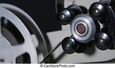projecteur, 16 mm, film, bande, pellicule