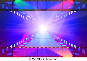 projecteur film, pellicule, cinéma
