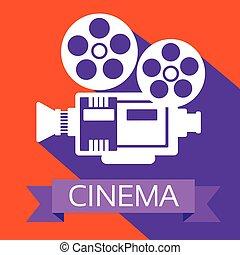 projecteur film, retro, pellicule, cinéma