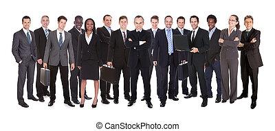 projectile panoramique, businesspeople, confiant
