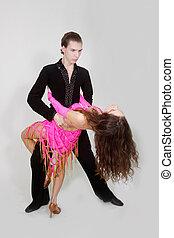 projectile studio, de, jeune danser couples