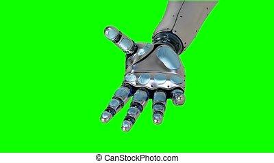 projection, étirage, -, artificiel, rendre, bras, partie, functionality, 4k, robotique, remplacement, sien, futuriste, 3d
