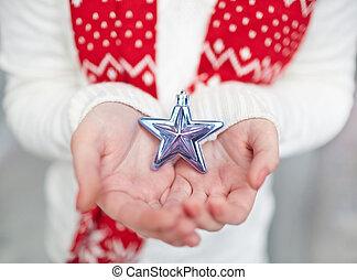 projection, étoile, argent