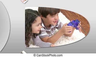 projection, animation, adorable, enfants