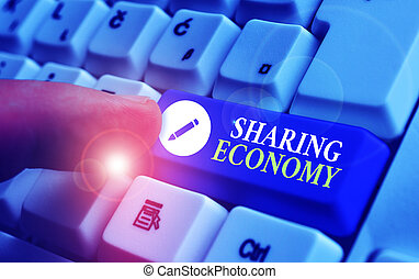 projection, business, economy., pair, sharing., texte, ou, ...