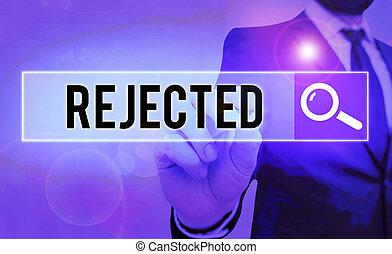 projection, business, note, rejected., ou, photo, défectueux...