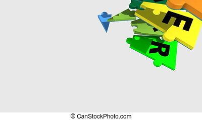 projection, coopération, 3d, puzzle