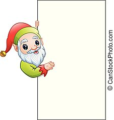 projection, elfe, signe, vide, dessin animé, noël
