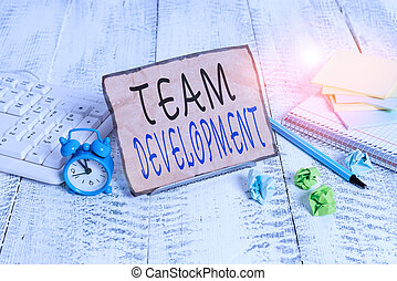 projection, entre, efficacité, business, clavier, équipe, ...