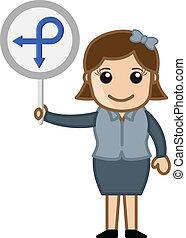 projection, femme, direction, planche