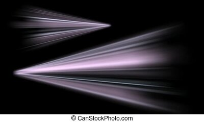 projection, rayons, laser, mouvement