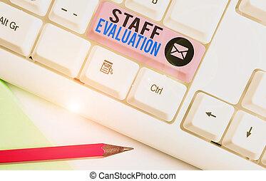 projection, s, personnel, revue, business, évaluation, métier, evaluation., perforanalysisce., photo, écriture, note, showcasing, ouvrier