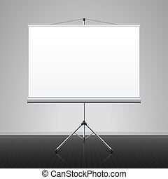 Projection screen vector illustration