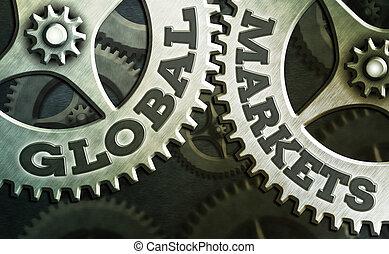 projection, services, pays, world., affaires globales, marchandises, showcasing, main, markets., commerce, écriture, conceptuel, photo, tout