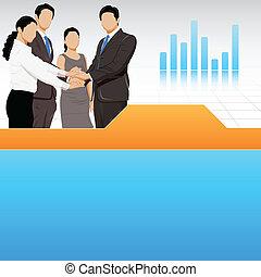 projection, unité, equipe affaires