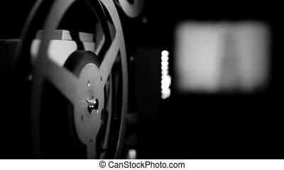 projection, vieux, projecteur, pellicule