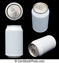 Projections of a blank beverage can - Four projections (top,...