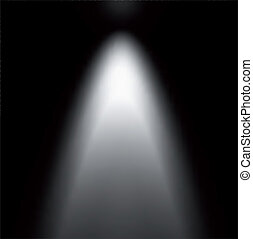 projector., 光, 矢量, 插圖, 橫樑