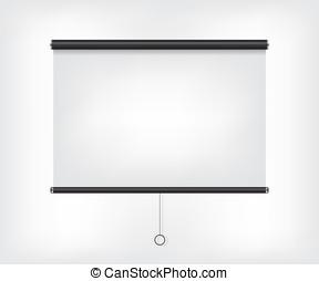 Projector blank screen