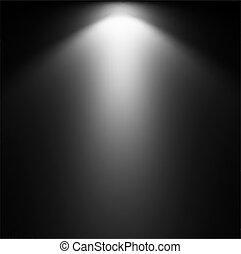 projector., fény, vektor, ábra, gerenda