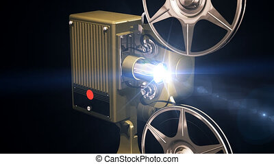 Projector film shows move