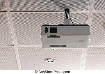 Projector - Hanging projector to a boardroom ceiling