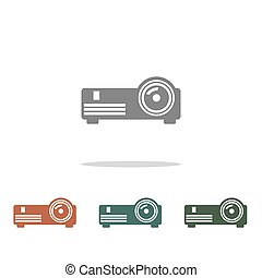 projector icon isolated on white background