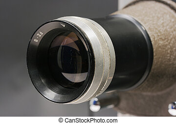 Projector Lens Close Up
