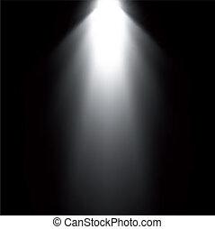 projector., licht, vektor, balken